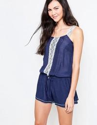 Ромпер с кружевной отделкой Jasmine - синее платье