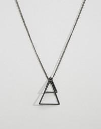 Ожерелье с черными геометрическими подвесками Icon Brand - Черный