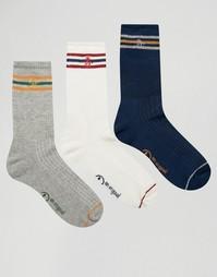 3 пары спортивных носков в стиле ретро Original Penguin - Серый