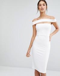 Платье миди с вырезом Missguided - Белый
