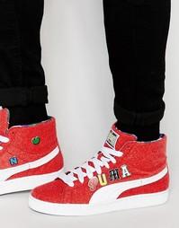 Красные кроссовки средней высоты Puma x Dee and Ricky Basket 36008501