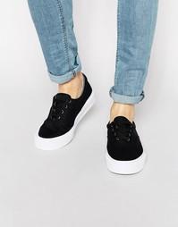 Кеды со шнурками ASOS - Черный