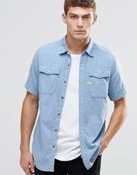 Джинсовая рубашка с короткими рукавами G-Star Landoh - Lt cloud
