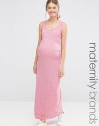 Платье для беременных длиной макси Mamalicious - Красный Mama.Licious
