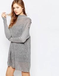 Платье-джемпер b.Young - Светло-серый меланж