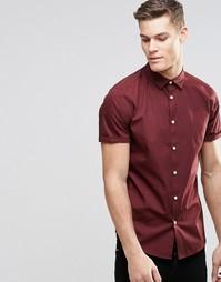 Бордовая рубашка с короткими рукавами ASOS - Burgundy