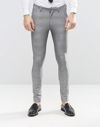 Серые супероблегающие брюки с эффектом деграде ASOS - Серый