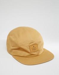 Светло-коричневая 5-панельная кепка ASOS - Рыжий