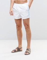 Белые короткие шорты для плавания с полосой по бокам ASOS - Белый