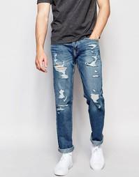 Светлые узкие джинсы Hollister - Светло-голубой