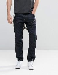 Суженные книзу джинсы с подтяжками G-Star Elwood 5620 3D - Raw