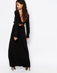 Платье макси с вырезом сзади Japonica - Черный