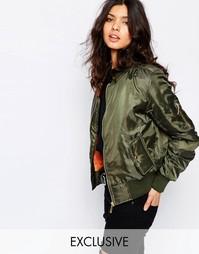 Утепленная куртка-пилот Liquor n Poker - Зеленый