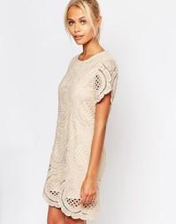 Ажурное платье Fashion Union - Песок