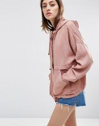 Летняя куртка из выбеленного хлопка ASOS - Светло-розовый