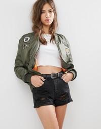 Куртка-пилот с нашивками Boohoo - Хаки