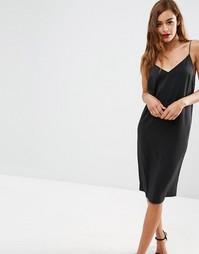 Платье-сорочка миди ASOS - Черный