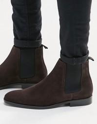 Замшевые ботинки челси Paul Smith Gerald - Коричневый