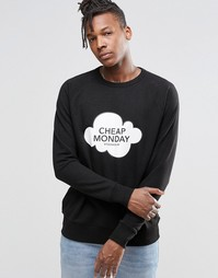 Свитшот с логотипом в виде облака Cheap Monday Rules - Черный