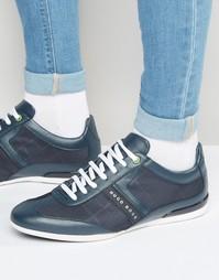 Кроссовки с логотипом Boss Green Space - Темно-синий