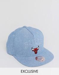 Бейсболка Mitchell & Ness Chicago Bulls эксклюзивно для ASOS - Синий