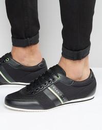 Винтажные кроссовки с тесьмой Boss - Черный