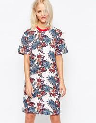 Платье-футболка с цветочным принтом House of Holland