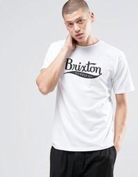 Футболка с крупным логотипом Brixton - Белый