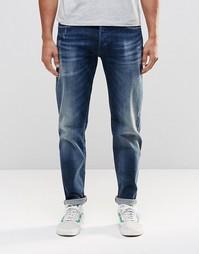 Темные стретчевые зауженные джинсы ограниченной серии с потертостями R Replay