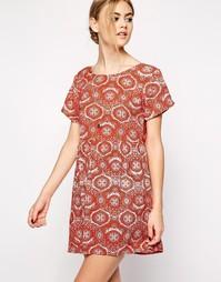 Платье с мозаичным принтом Motel Tiara - Терракотовый
