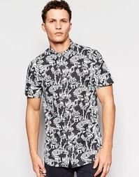 Рубашка с короткими рукавами и принтом Afends - Черный