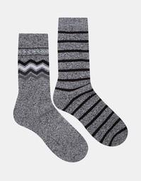 Комплект из 2 пар толстых носков Jack & Jones - Микс