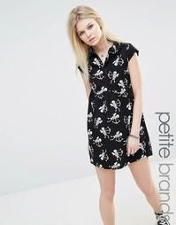 Платье с принтом скелетов Noisy May Petite - Черный