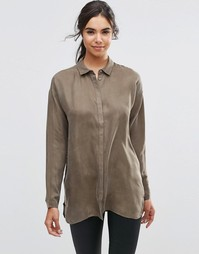 Рубашка с разрезами по бокам Minimum Dine