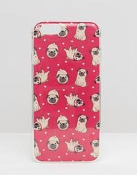 Чехол для iPhone 6 с принтом мопса - Розовый Signature