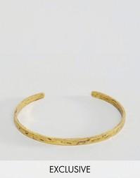 Золотистый фактурный браслет Reclaimed Vintage - Золотой