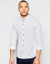 Поплиновая рубашка с принтом пейсли Dickens and Browne - Белый
