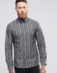Облегающая рубашка со змеиным принтом Noose & Monkey - Черный