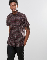 Зауженная рубашка с короткими рукавами и принтом Paul Smith