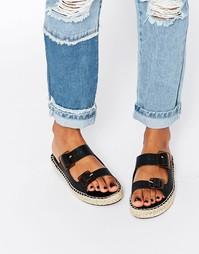 Кожаные сандалии Miista Kitty - Черный