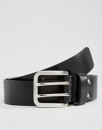 Черный кожаный ремень с двумя язычками Royal RepubliQ Limit - Черный