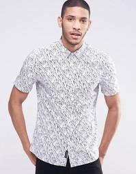 Рубашка с короткими рукавами и принтом Religion - Белый