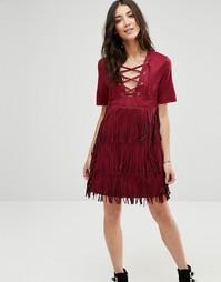 Платье с бахромой Raga The Wild - Wine