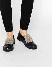 Кожаные туфли на плоской подошве Miista Myla - Темно-синий