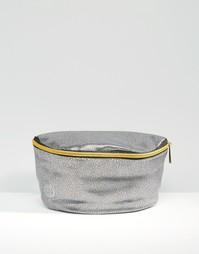 Серебристая сумка-кошелек на пояс из искусственной кожи Mi-Pac