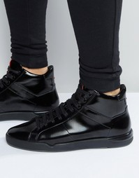 Лакированные кроссовки HUGO by Hugo Boss Fusion - Черный