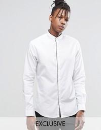 Строгая рубашка с окантовкой планки Noak - Белый