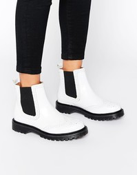 Массивные ботинки на плоской подошве Bronx - Бежевый