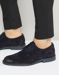 Замшевые туфли дерби Boss Orange Cultroot - Темно-синий