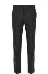 Шерстяные брюки со стрелками Brioni